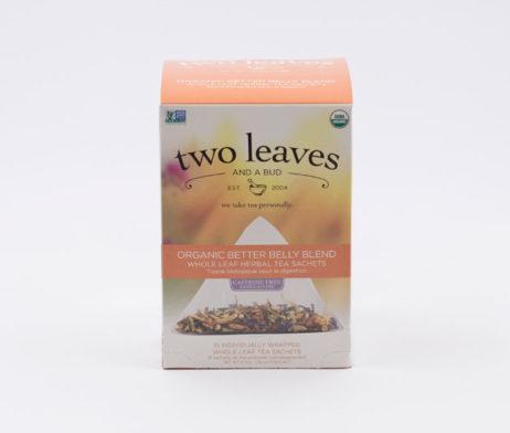 Té Orgánico Organic Better Belly Blend Infusión Jengibre Hinojo Caléndula Manzana Two Leaves Tea
