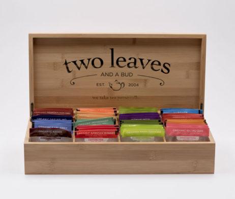 Caja de Té Bambú para Infusiones Grande Two Leaves Tea