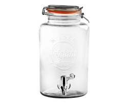 Server de Cristal para Iced Tea 5L / 8L Kilner Two leaves Tea