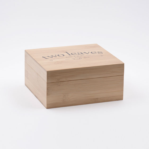 Caja de Té Bambú para Infusiones Pequeña Two Leaves Tea