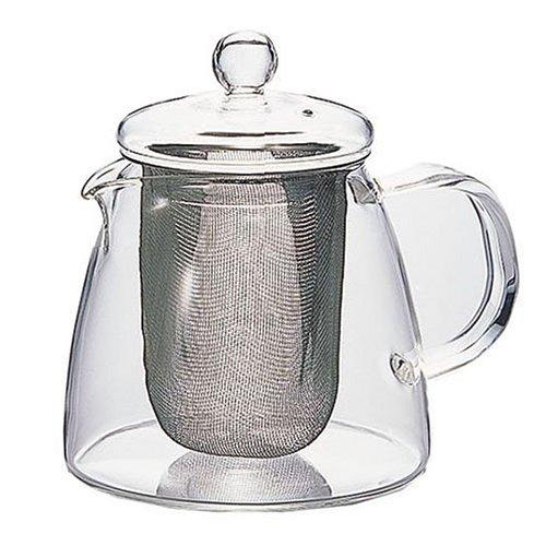 Tetera de Cristal con Filtro de Malla Hario Two Leaves Tea