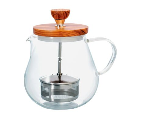 Tetera de Cristal Para Infusionar Hario Two Leaves Tea
