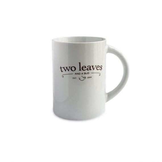 Mug de Té Blanco Brillante Two Leaves