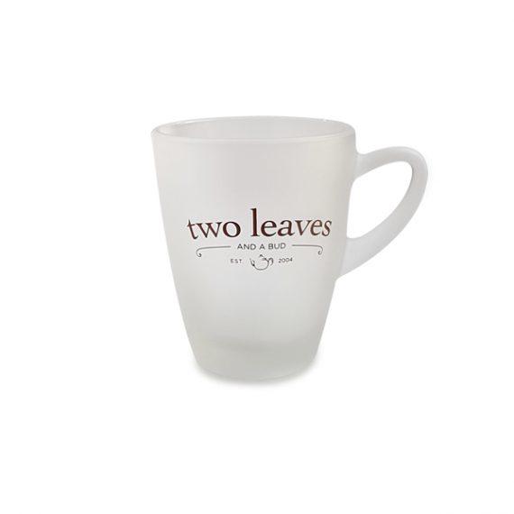 Taza de Té con Plato Cristal Transparente Two Leaves
